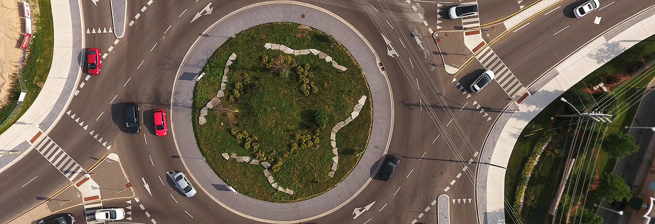 Roundabout in Waterloo