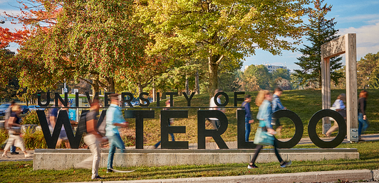 University of Waterloo campus sign